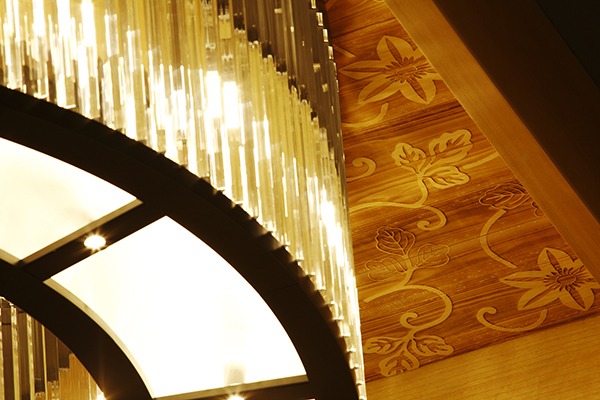 Close-up view of the ceiling at The Ritz-Carlton, Kyoto